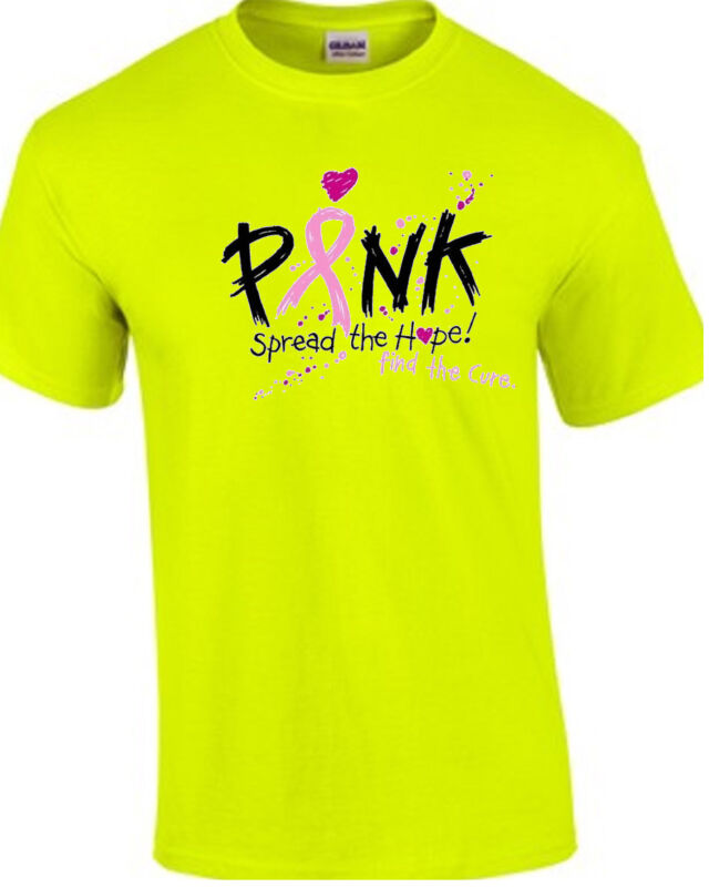 Pink Spread The Hope Cancer Awareness TEE SHIRT Small - 5XL