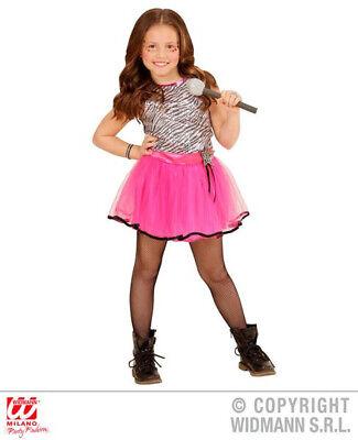 KINDERKOSTÜM POP STAR GIRL FASCHING KARNEVAL MÄDCHEN POPSTAR KOSTÜM GR. 140 - Mädchen Pop Star Kostüm