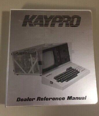 Vintage 1983 KAYPRO Computer Dealer Reference Manual Binder Complete VHTF, used for sale  Shipping to South Africa