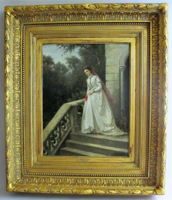Very Fine Original Antique Dutch Oil Painting  JAN ANTOON NEUHUYS  c. 1864