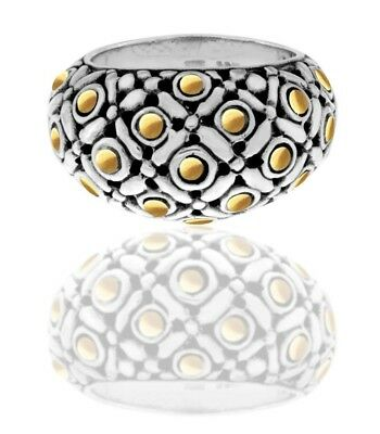 DEVATA The Eclipse Signature Sterling Silver 925 Ring 18K Gold EPM3227TT