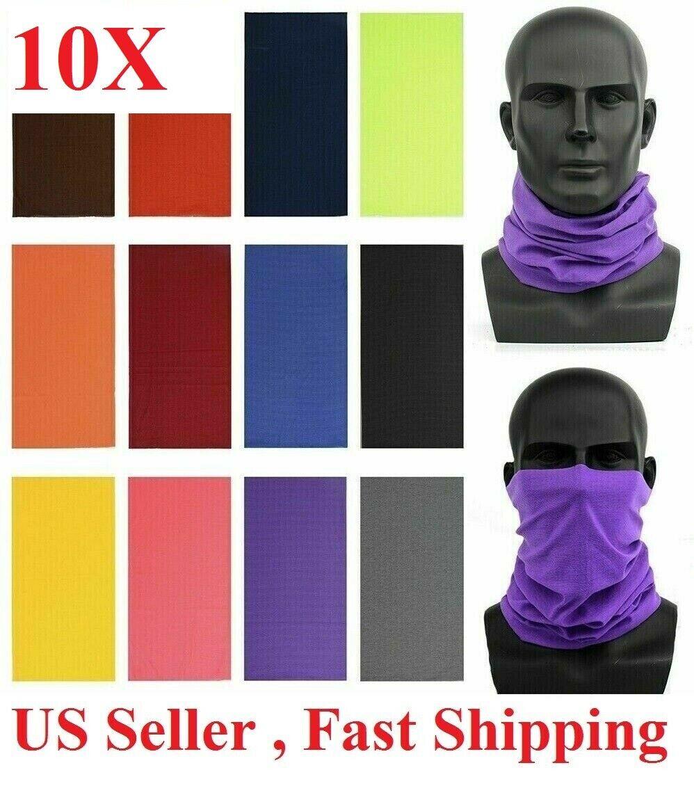 10x Face Mask Sun Shield Neck Gaiter Bike Balaclava Neckerchief Bandana Headband Clothing, Shoes & Accessories