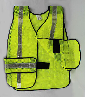 LOT OF 2 or 6 Reflective Safety Vest Yellow Construction Traffic 2 Traffic Safety Vest