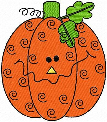 Pumpkins for Halloween 10 Embroidery Designs on multi-formatted CD