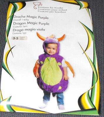 Drachen Magic Purple Kinderkostüm GR. 3-5 - Drachen Kostüm 3 Jahre