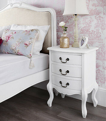 Shabby Chic White Bedroom Furniture Bedside Tables