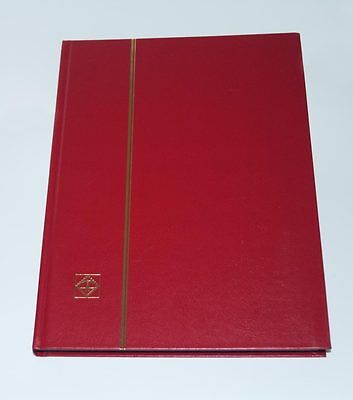 LIGHTHOUSE 32 PAGE HARDCOVER STOCKBOOK, RED - LS4/16- OVER 30 OFF