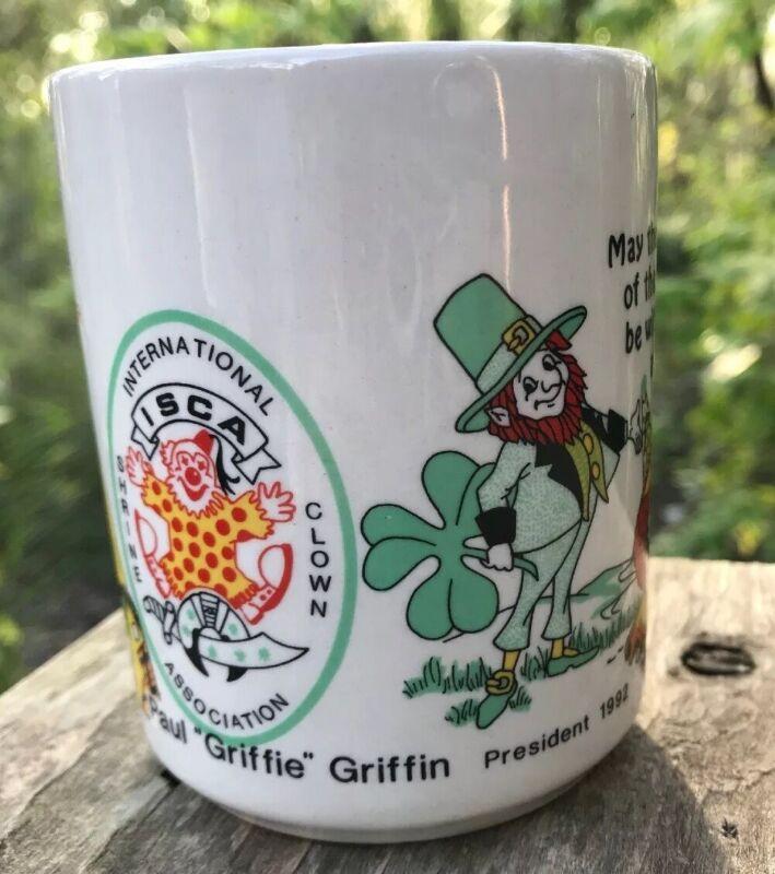 ISCA 1992 Bahia TEMPLE Orlando FL Irish Luck Clowns COFFEE MUG Shriners Masonic