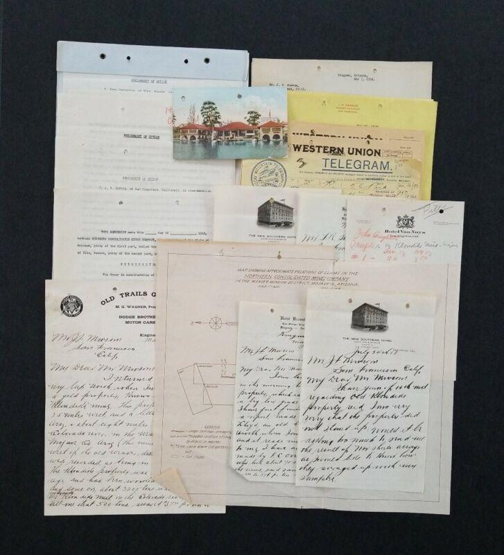 1918 Old Klondike Mines (Northern Consolidated Mines Co.) Documents ~ Arizona