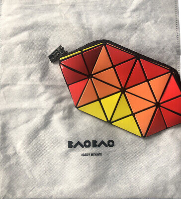 BAO BAO ISSEY MIYAKE Prism Three Color Pouch Small Zip Clutch Bag Very Rare