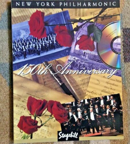 1842-1992 NEW YORK PHILHARMONIC 150th ANNIVERSARY Stagebill Program Rare Find!