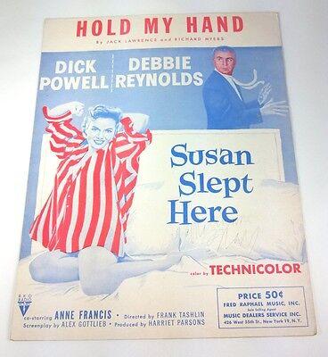 HOLD MY HAND - SHEET MUSIC - Copyright 1950