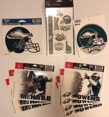NFL Philadelphia Eagles Football 17 Piece Stickers (9) Temp Tattoos (8) - NEW!!!](Philadelphia Eagles Tattoos)