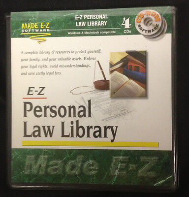 Made Ez Software - MADE E-Z PERSONAL LAW LIBRARY SOFTWARE  4 CD disk SET