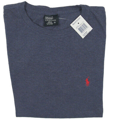 Blue Player T-shirt (NEW Polo Ralph Lauren Polo Player T Shirt!  Vintage   Full Cut   Blue or Gray)