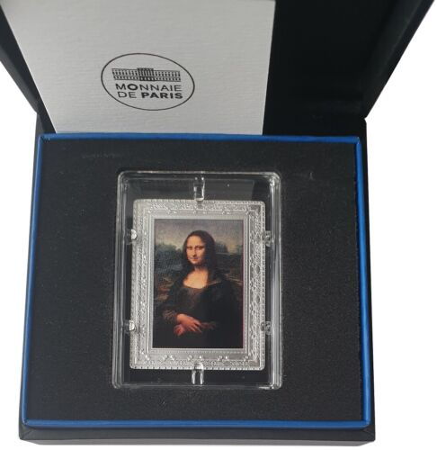10 Euro Silver Mona Lisa France 2019 Proof Finish with Case and COA