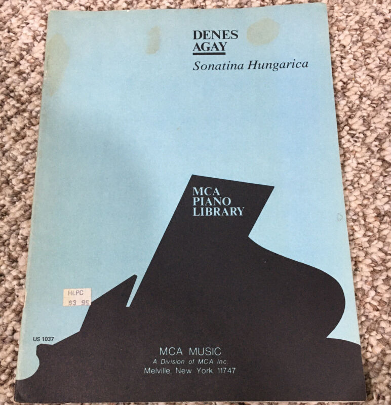 Denes Agay Sonatina Hungarica Mca Piano Library Vintage Music Sheet