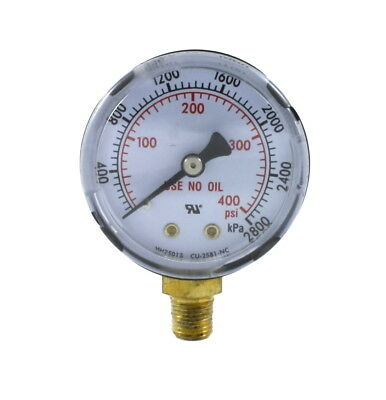 High Pressure Gauge For Propane Regulator 0-400 Psi 2 Inches - 18 Npt Thread