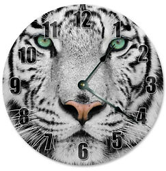 WHITE TIGER Clock - Large 10.5 Wall Clock - 2275