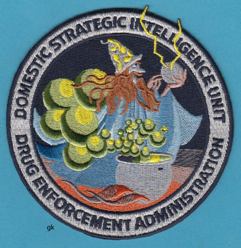 DEA DOMESTIC STRATEGIC INTELLIGENCE DRUG ADMINISTRATION POLICE SHOULDER  PATCH