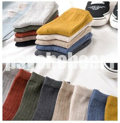 Basic Various Color Daily Socks for Woman  Girl Free Size 10PCS!