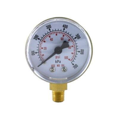 Low Pressure Gauge For Oxygen Regulator 0-100 Psi 2 Inches - 18 Npt Thread