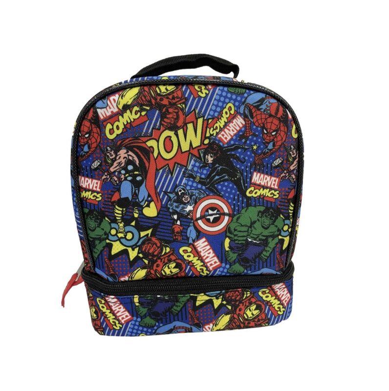 Kids Marvel Comics Avengers Lunch Bag Spiderman Hulk Thor Iron Man
