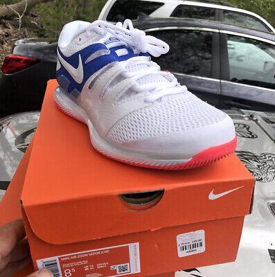 Nike Air Zoom Vapor X, 8.5 White Tennis Sneakers, PleaseKnowYourSize