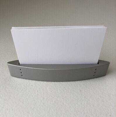 Vintage Matte Silver Business Card Holder