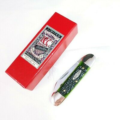 ROBESON SHUREDGE USA CANOE GREEN BONE POCKET KNIFE 1 OF 200 RARE WITH BOX