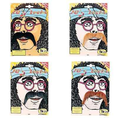 70S HIPPY ST PEPPER MOUSTACHE ASST COLOURS MEXICAN