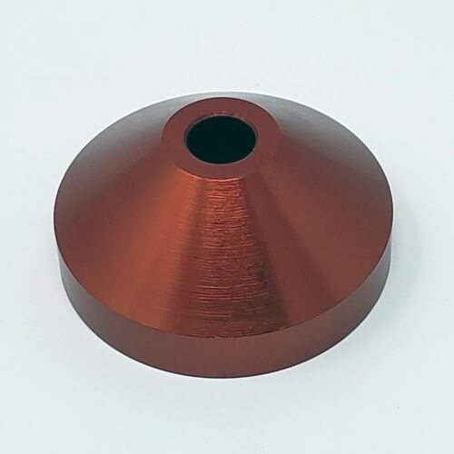 NEW - SOLID ALUMINUM 45rpm adapter - red- PRECISION CRAFTED - POLISHED