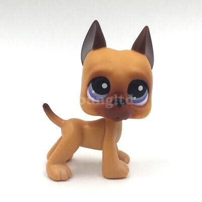 Cute Littlest Pet Shop GREAT DANE #244 LPS DOG kids action Figure Toy Doll Gift