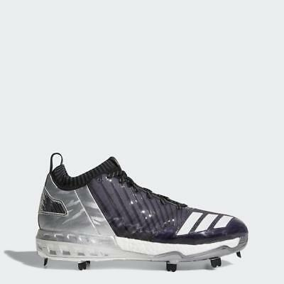 sports shoes 672ef 6262d New Adidas Boost Icon 3 Faded Metal Baseball Cleats Size 13.5 Black White  Silver