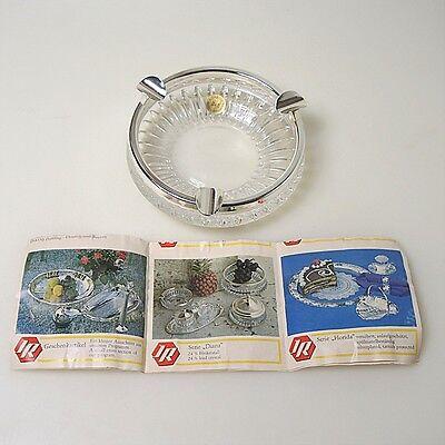 Chrom, Bleikristall (60er 70er Jahre Design Bleikristall/Chrom AschenbecherJosef Reichhart