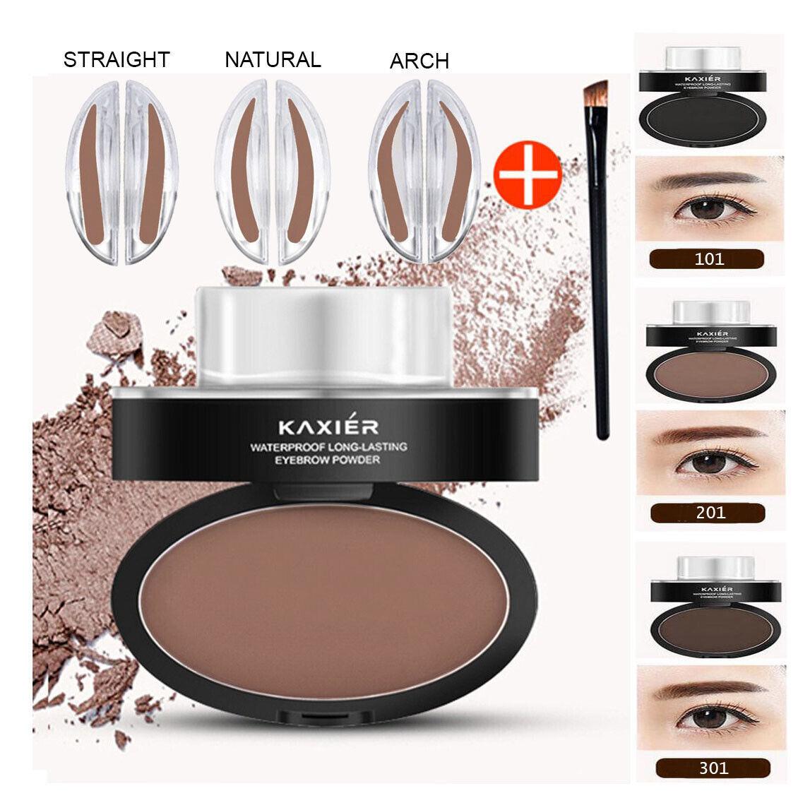 Eyebrow Stamp Powder Natural Delicate Shape Eye Makeup Water