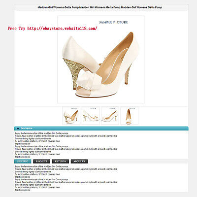 Ebay listing template, Generate Product description, Two free template, Easy use