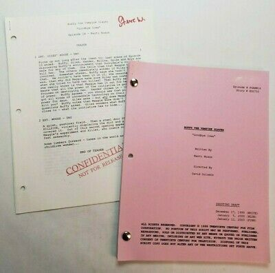 BUFFY THE VAMPIRE SLAYER / 2000 TV Script, Sarah Michelle Gellar
