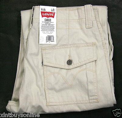 Levi's Cargo Pants Loose Fit Straight Leg 6420002 Ivory Crea