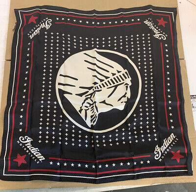 NEW Indian Silk Black Bandana, Black 2869762