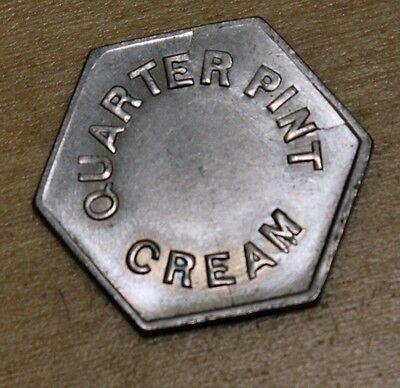 Quarter Pint Cream Token New Zealand Wellington City Corporation Milk Department