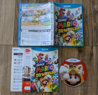 Super Mario 3D World (Wii U, 2013) Complete Tested & Working