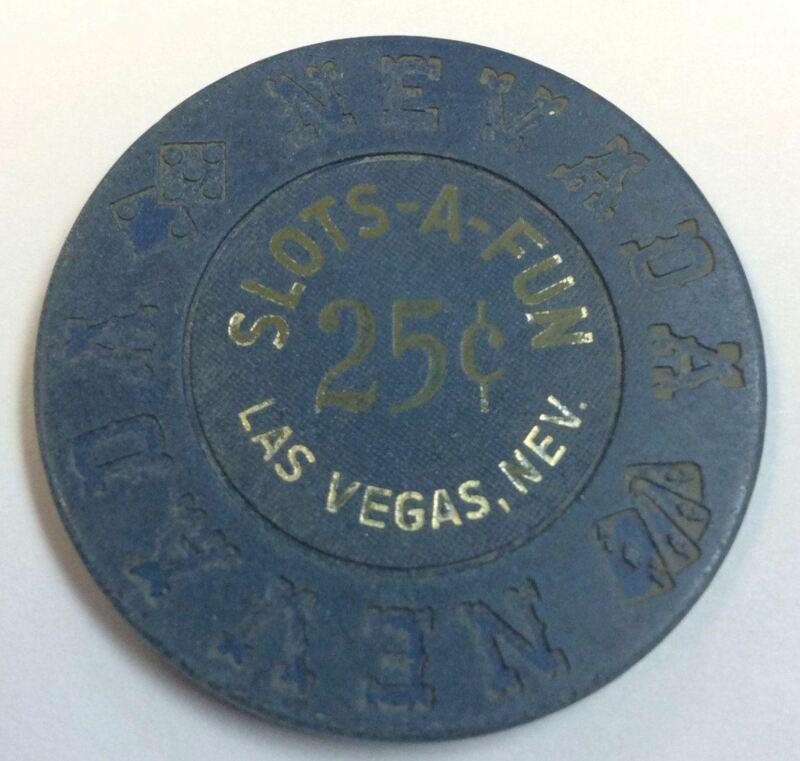 Slot A Fun Casino Las Vegas NV 25 Cent Chip 1973