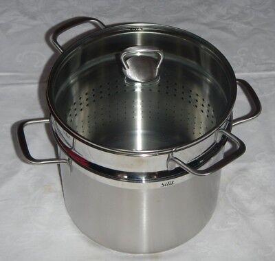 Silit WMF Primo Pastatopf (Topf Im Topf) Mit Glasdeckel 24cm Neu U0026 OVP
