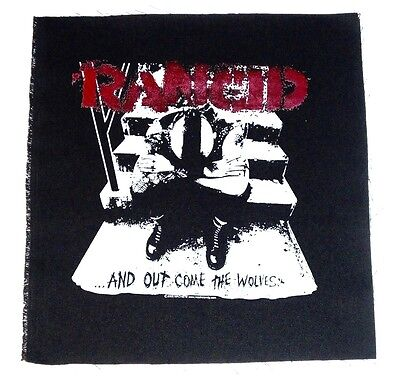 "RANCID And Out Come The Wolves BACK PATCH (14"") Sew On jacket patch cloth punk"