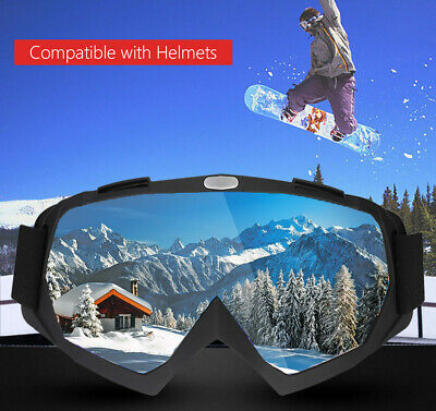 OTG Design Snowboard Snowmobile Pro Ski Goggles Anti-Fog Double Layer PC Lens