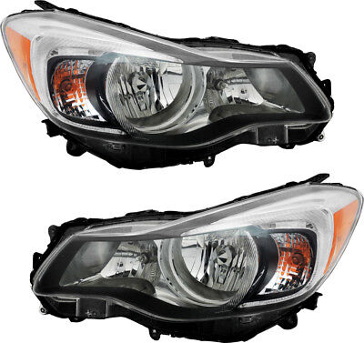Halogen Headlights w/Bulb NEW Pair Set for 12-15 Subaru Impreza XV Crosstrek