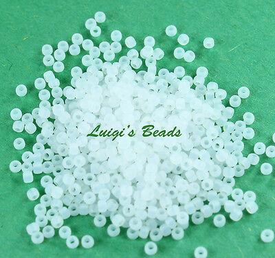11/0 Round Toho Japanese Glass Seed Beads #141F- Ceylon Frosted Snowflake -