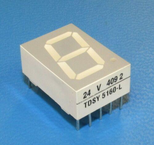 TELEFUNKEN TDSY5160 7-Segment 1-Character Numeric 13mm Yellow LED Display QTY-10
