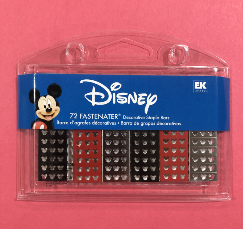 EK Success Fastenater Disney Decorative Staple Bars Mickey Mouse Logo Head